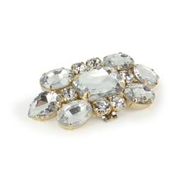 Broche Cristal Dorado