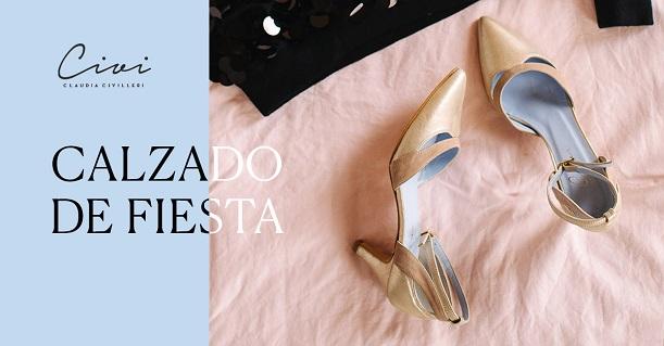Zapatos con tacón de punta