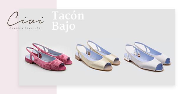 Sandalias de tacón bajo